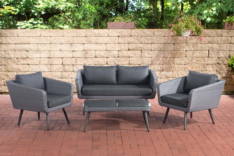 Salon de jardin Skara gris - Mobilier lounge - Meubles de ...