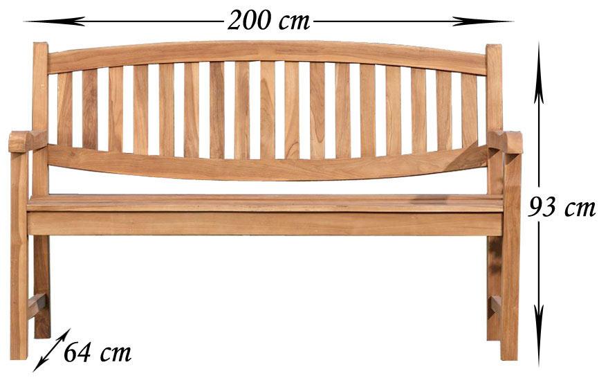 Banc en bois de teck Oxford - Bancs - Salon, salle à manger, salle ...