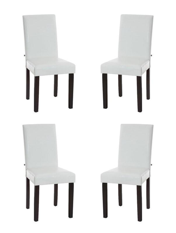 Lot de 4 chaises de salle à manger Ina avec Piètement Marron foncé