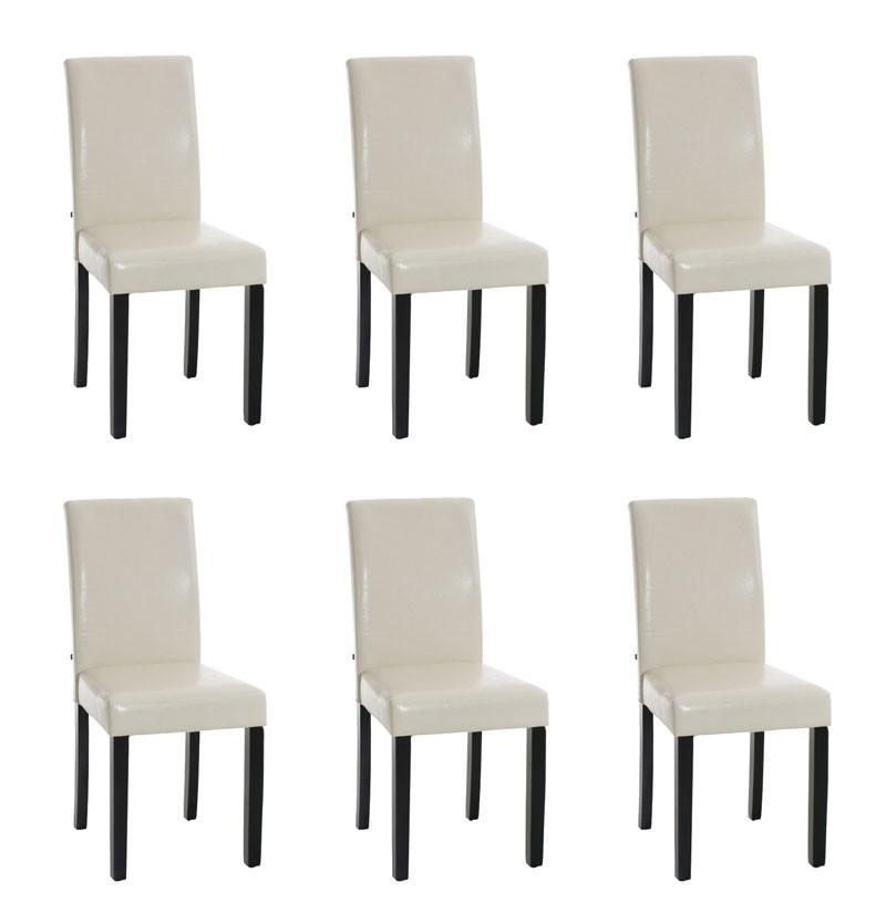 Lot de 6 chaises de salle à manger Ina Piètement Noir