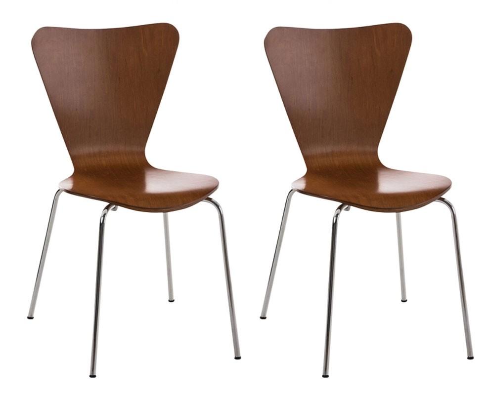 Lot de 2 chaises empilables Calisto