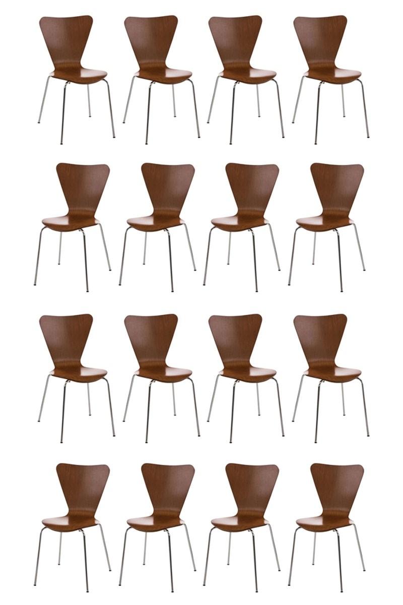 Lot de 16 chaises visiteur empilables Calisto