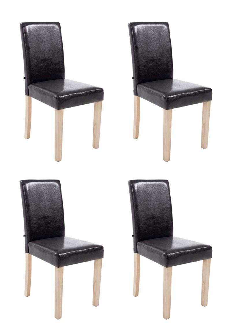 Lot de 4 Chaises de salle à manger Ina Nature