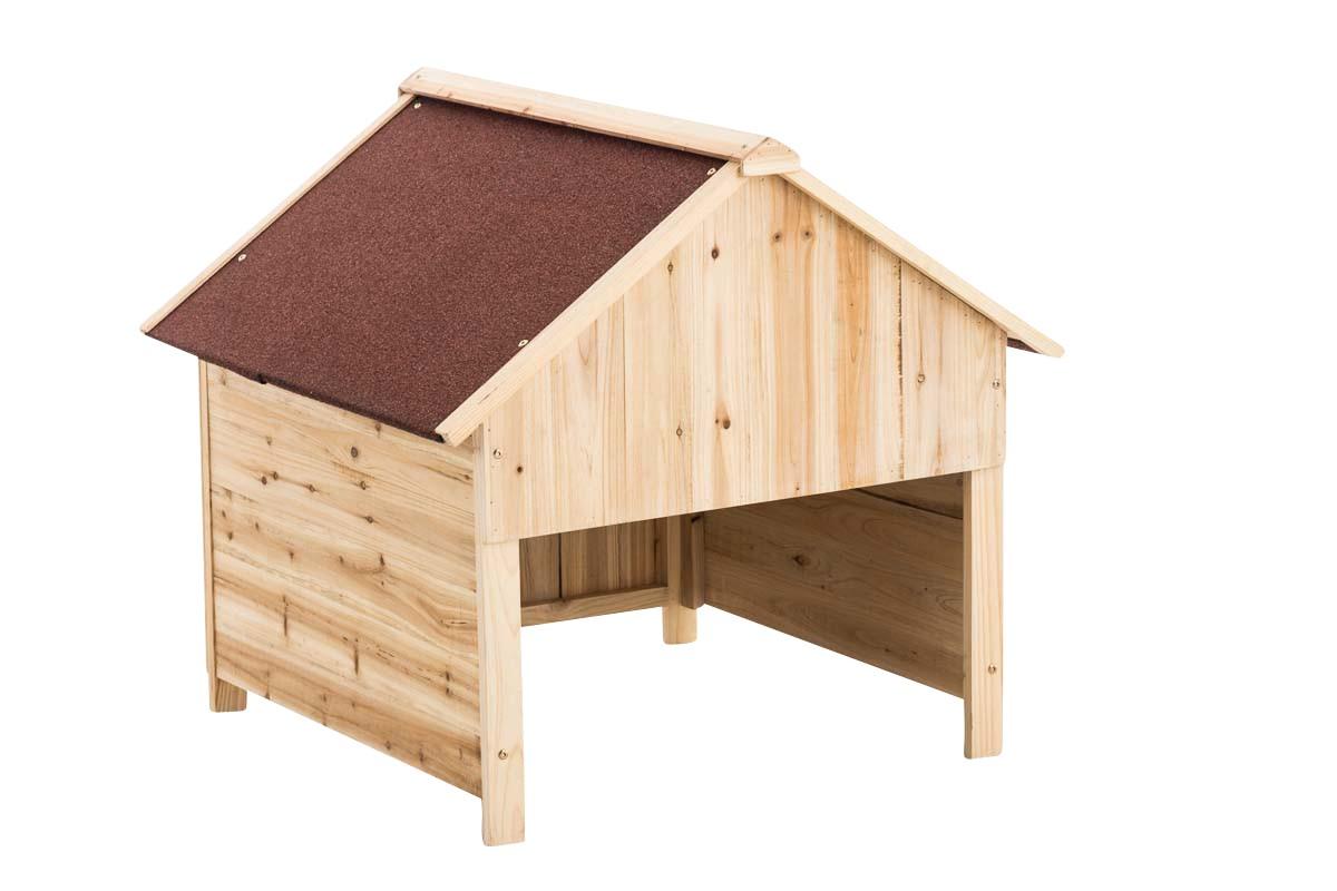 Garage en bois pour tondeuse