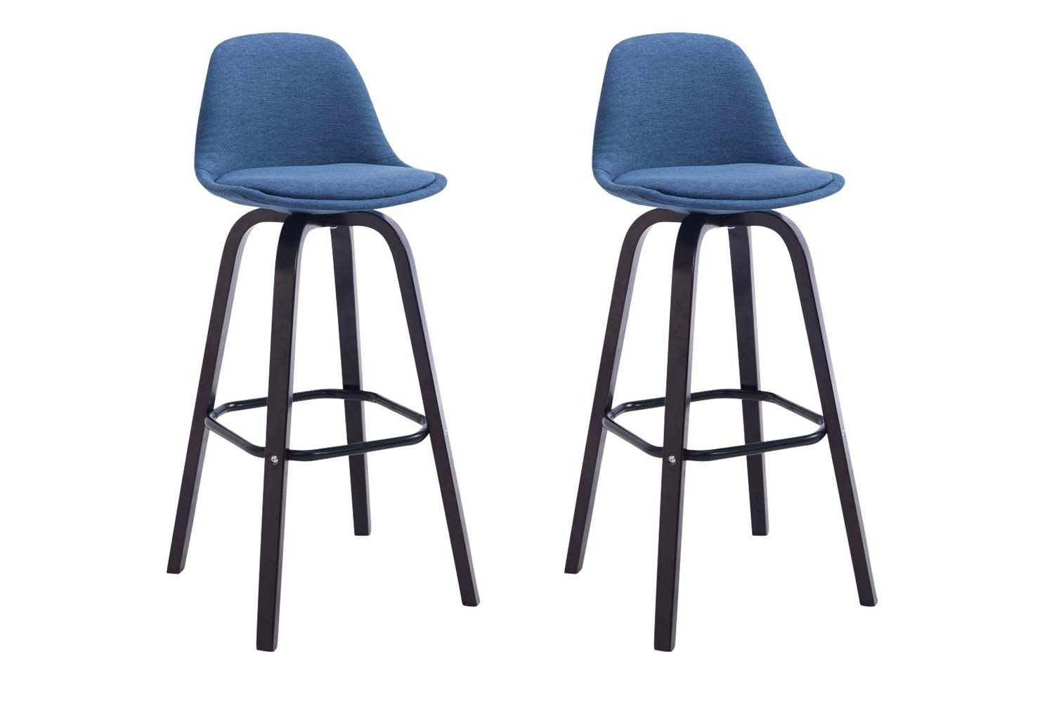 Lot de 2 Tabourets de Bar Avika Tissu