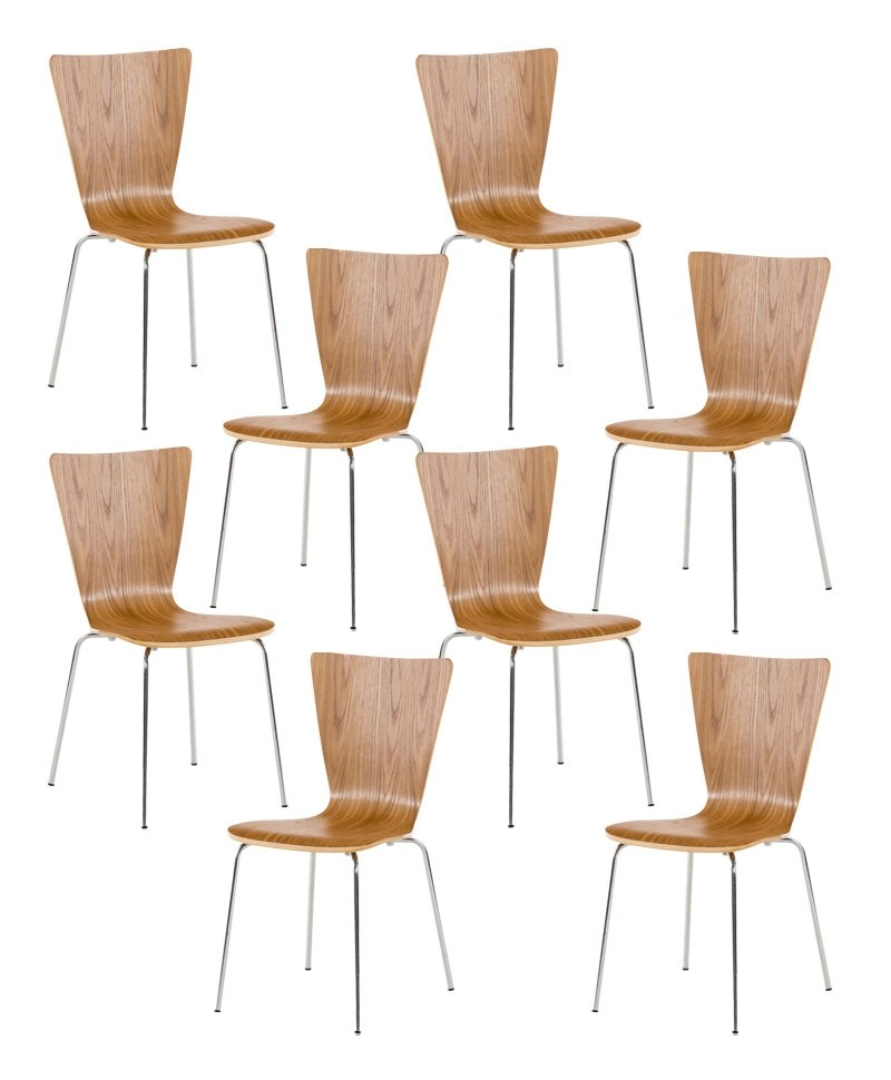 Lot de 8 chaises empilables Aaron