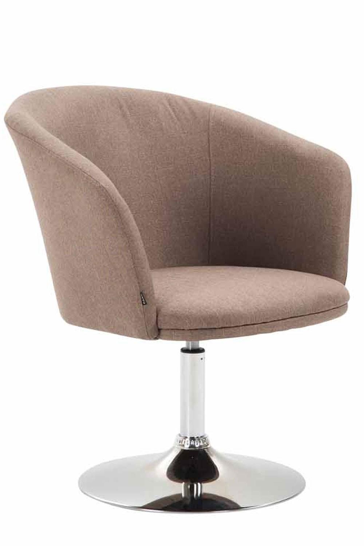Chaise lounge Arcade en Tissu avec piètement en métal aspect chromé