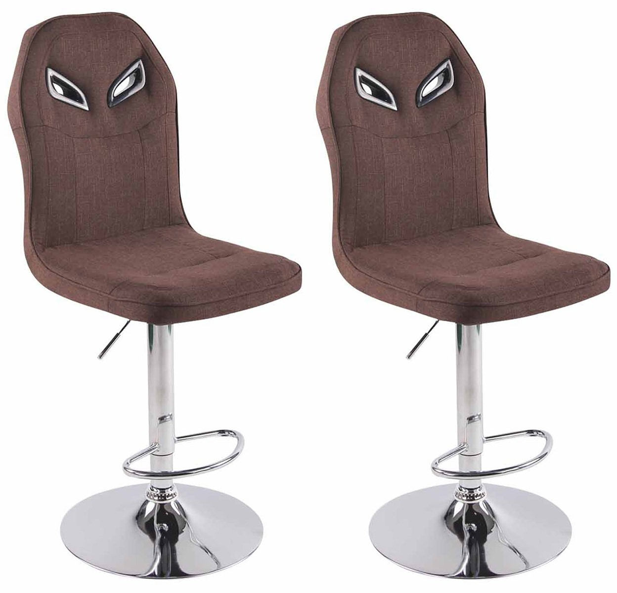 Lot de 2 Tabourets de Bar Racing Prost en tissu
