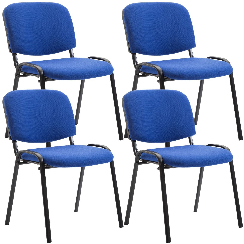 Lot de 4 chaises visiteur Ken en tissu