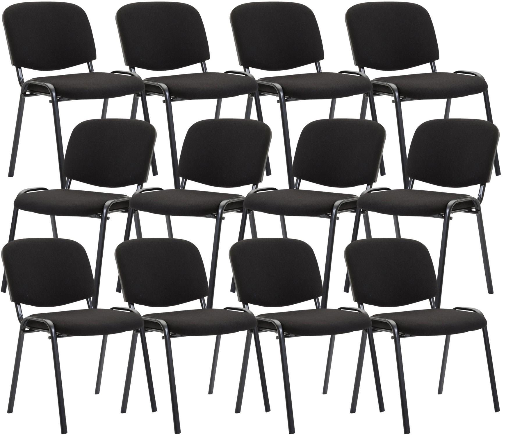 Lot de 12 chaises empilables Ken en tissu