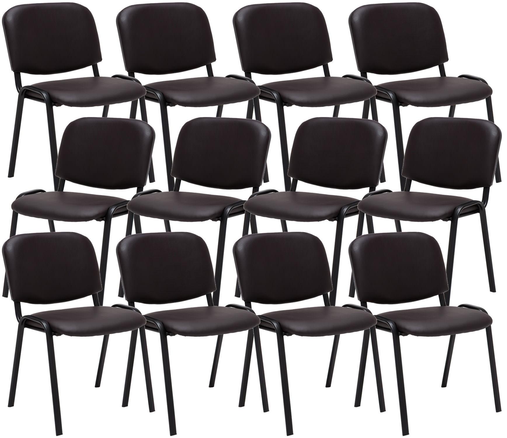 Lot de 12 chaises de visiteur Ken en similicuir