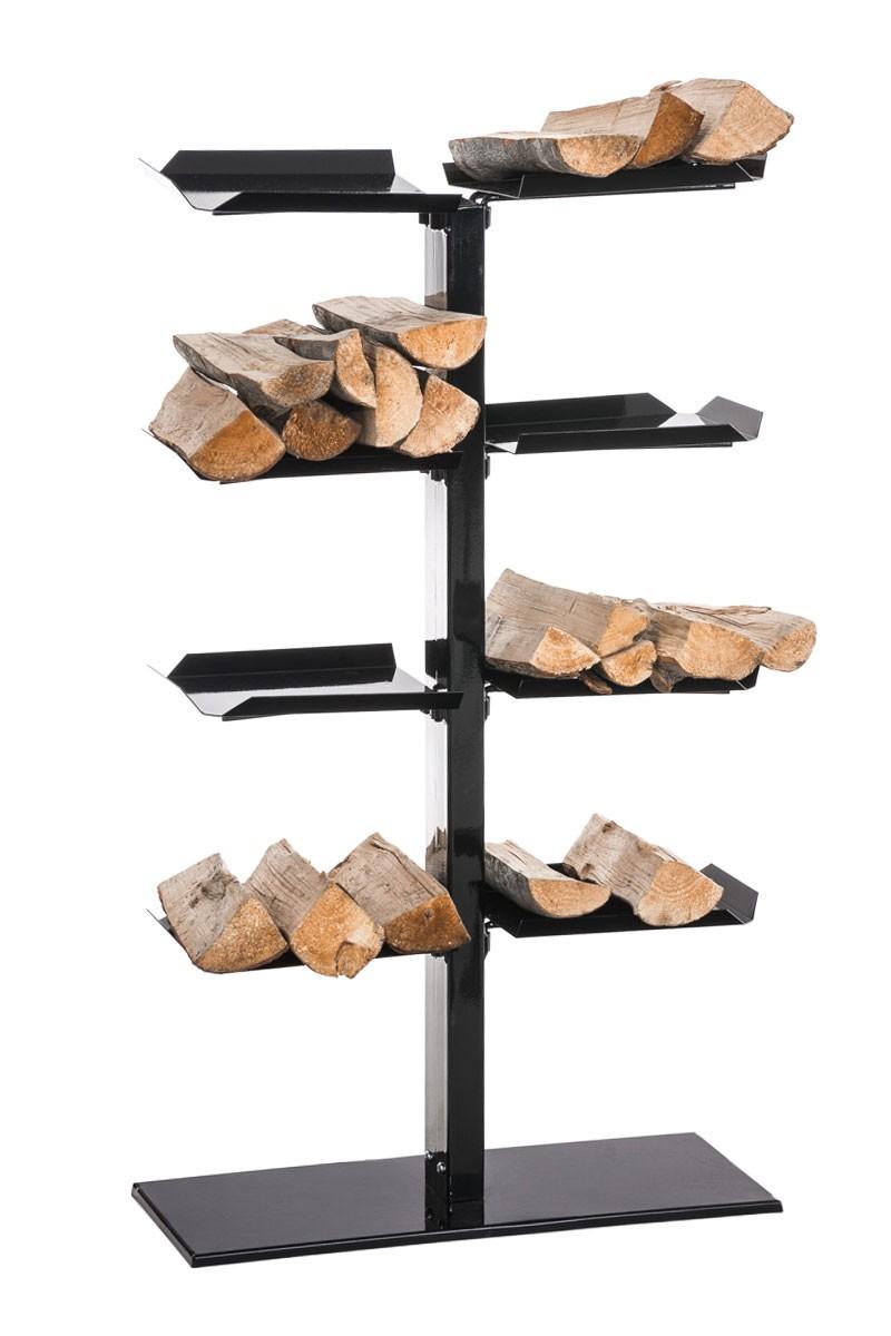 Support pour le bois Zanka V2 en métal 25x60x100