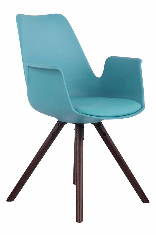 Chaise de salle à manger PRINCE plastique/similicuir pieds ronds