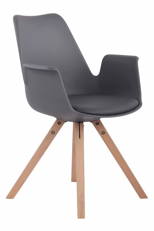 Chaise de salle à manger PRINCE plastique/similicuir pieds carrés
