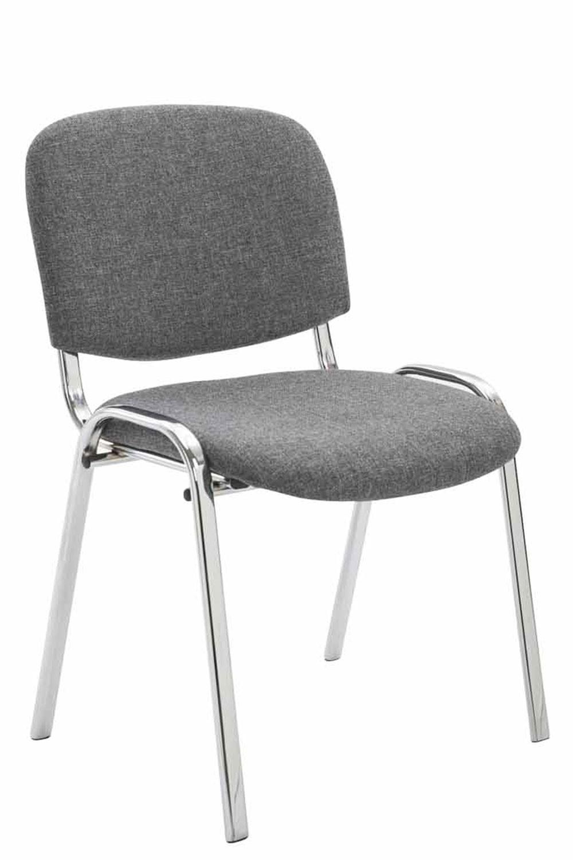 Chaise visiteur KEN support chromé tissu