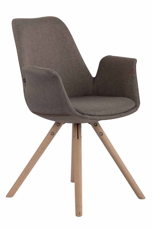 Chaise de salle à manger PRINCE Tissu Pieds forme ronde