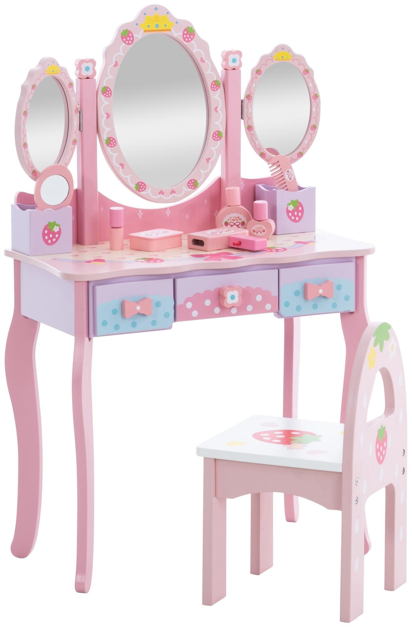 Coiffeuse pour enfants Emilia avec chaise - Tables - Salon, salle