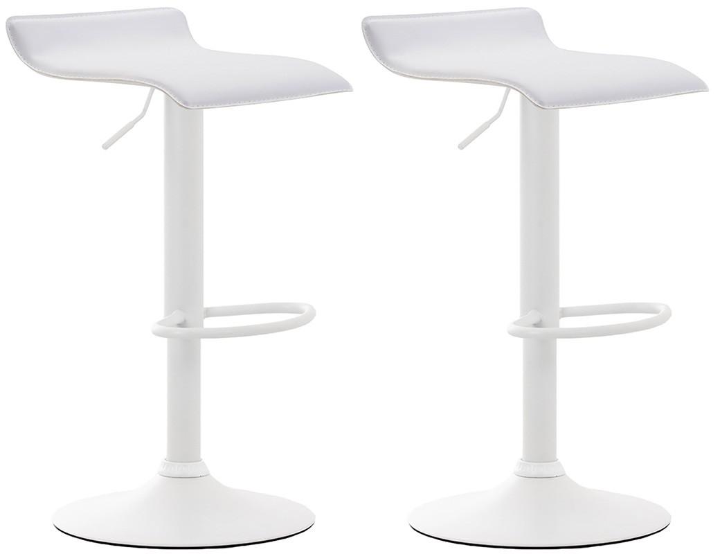 2er Set Barhocker Dyn V2 Kunstleder-weiß-Weiß