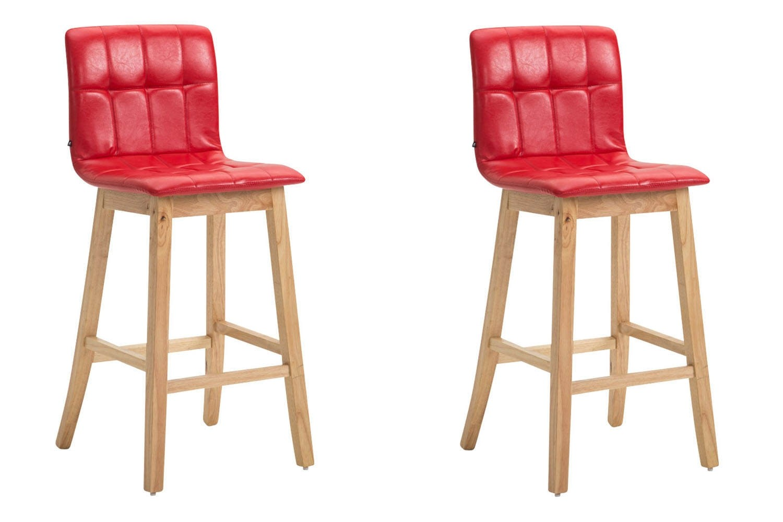 Lot de 2 chaises hautes Bregenz en similicuir