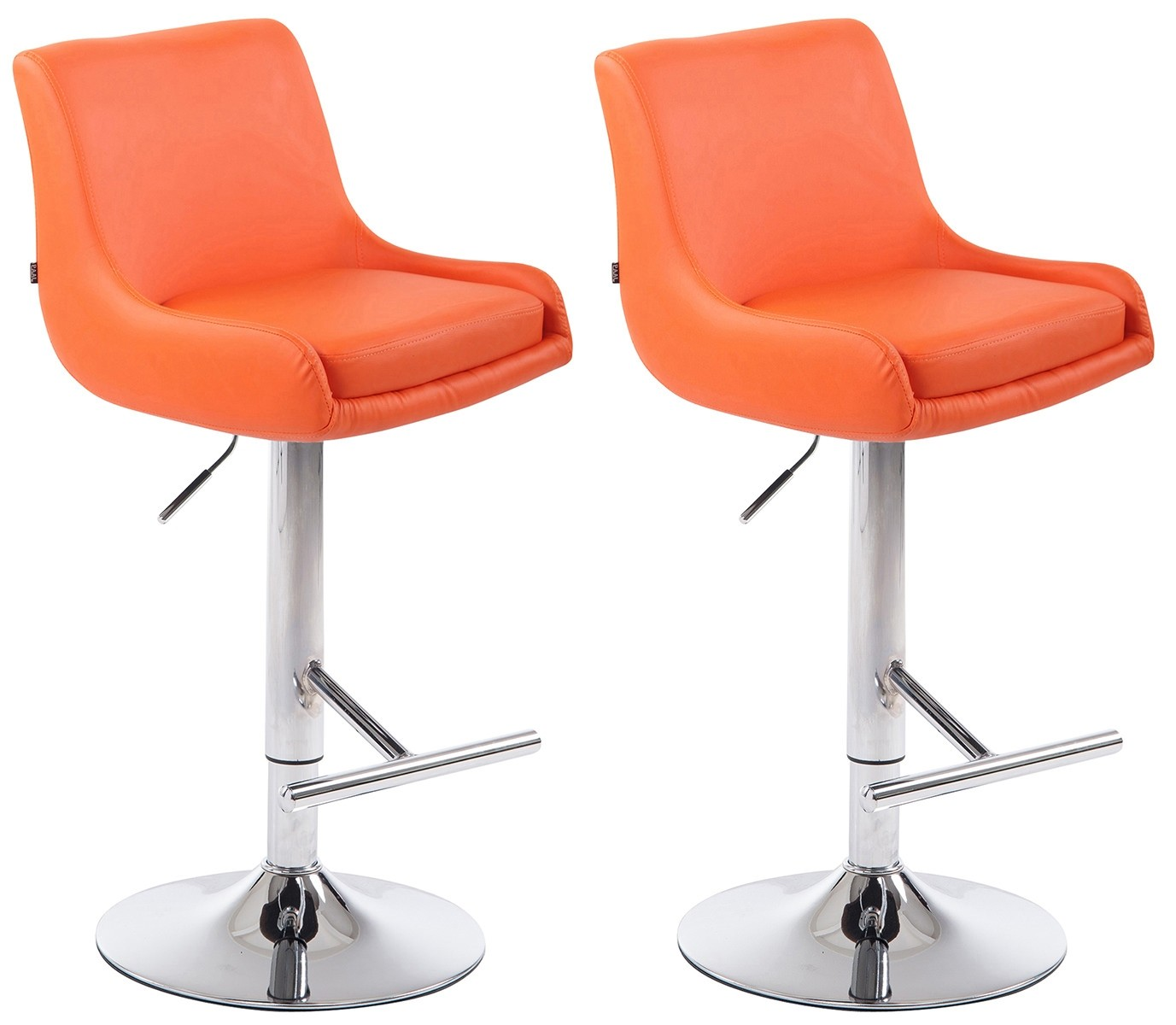 Lot de 2 tabourets de Bar CLUB Similicuir