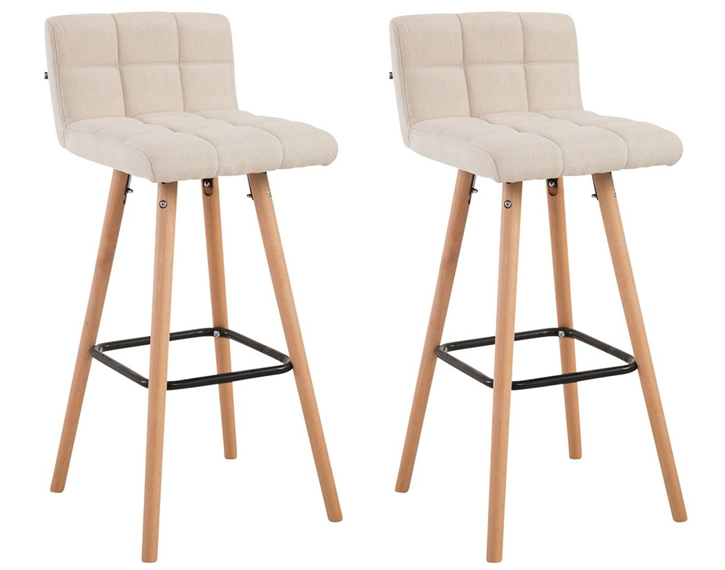 Lot de 2 tabourets de bar Lincoln V2 tissu