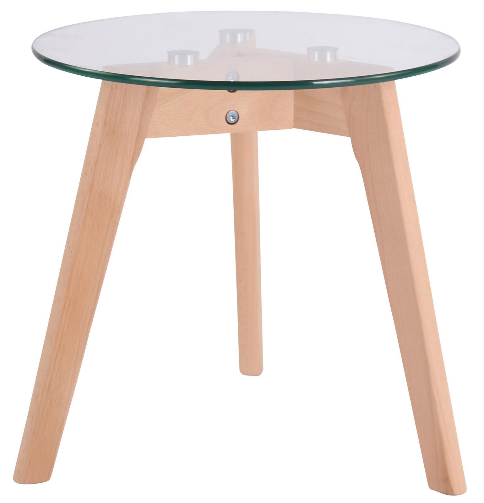 Table d'appoint avec plateau de verre Motala