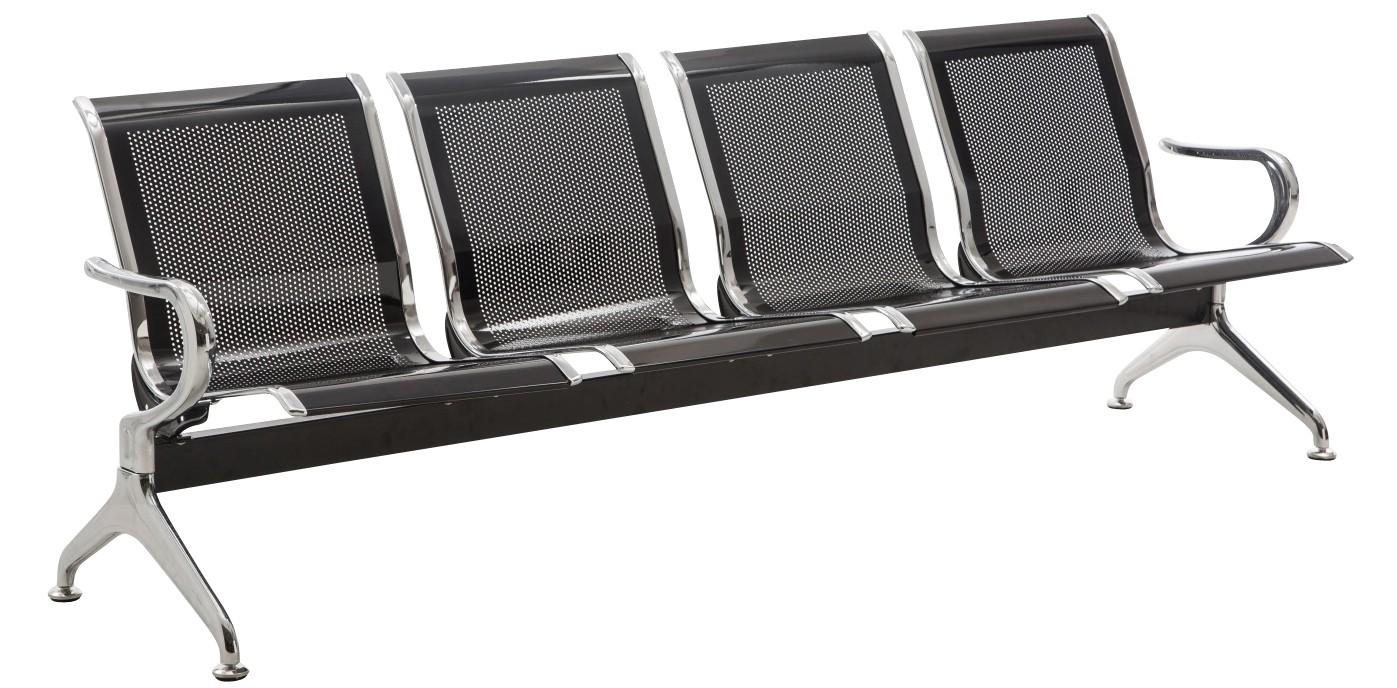 Banc 4 places en métal / Chaises sur poutre Airport