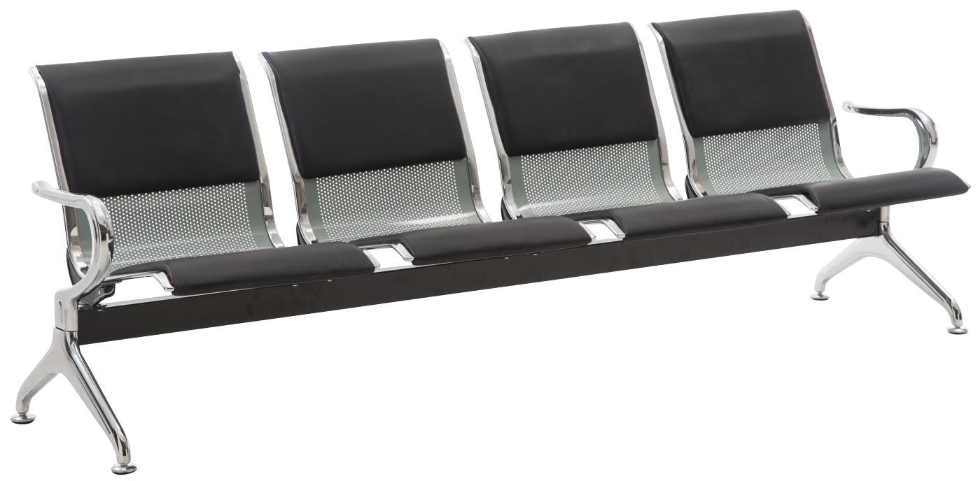 Banc 4 places zone d'attente / Chaises sur poutre en similicuir Airport