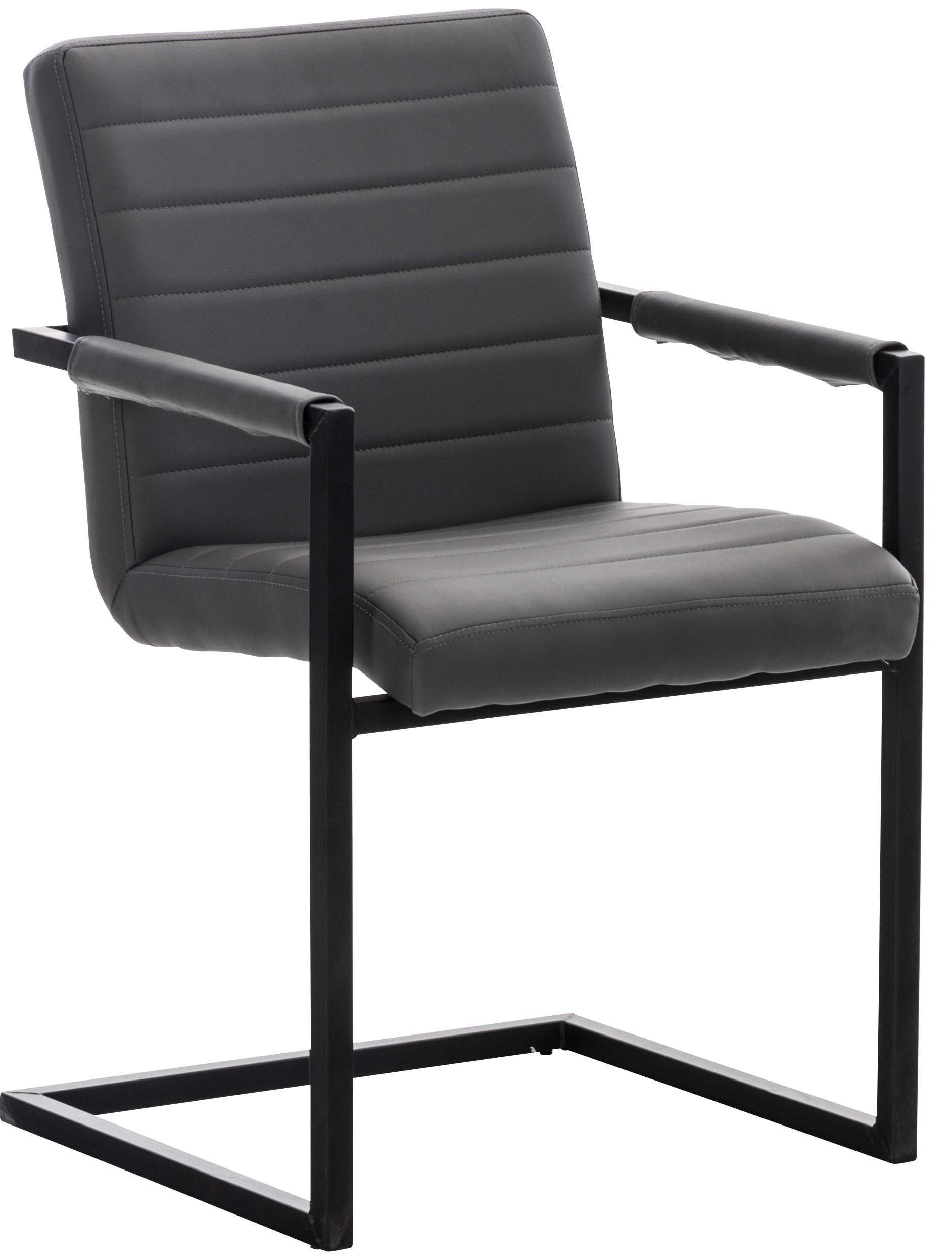 Chaise de visiteur Benjamin Similicuir Noir