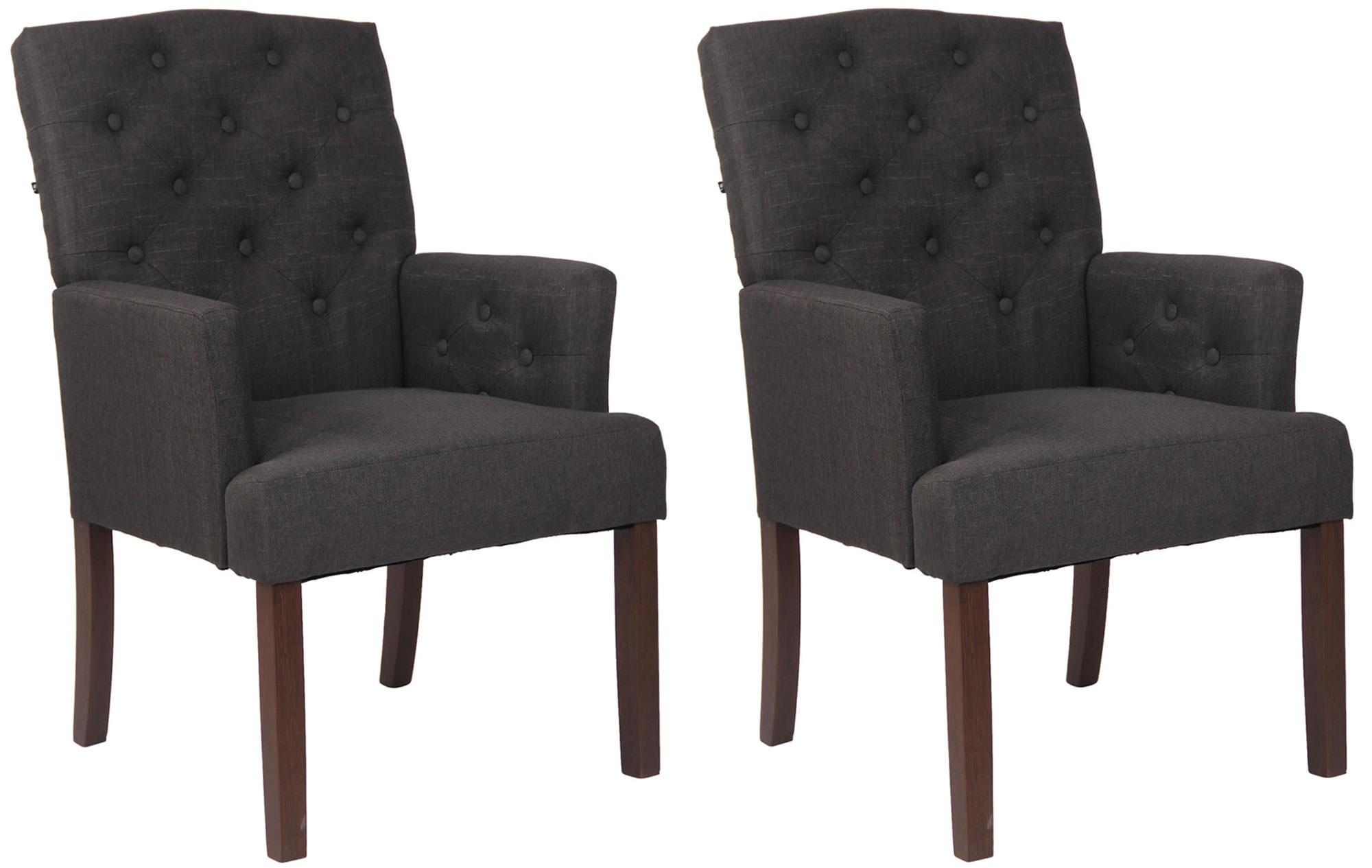 Lot de 2 chaises de salle à manger Sugar en tissu
