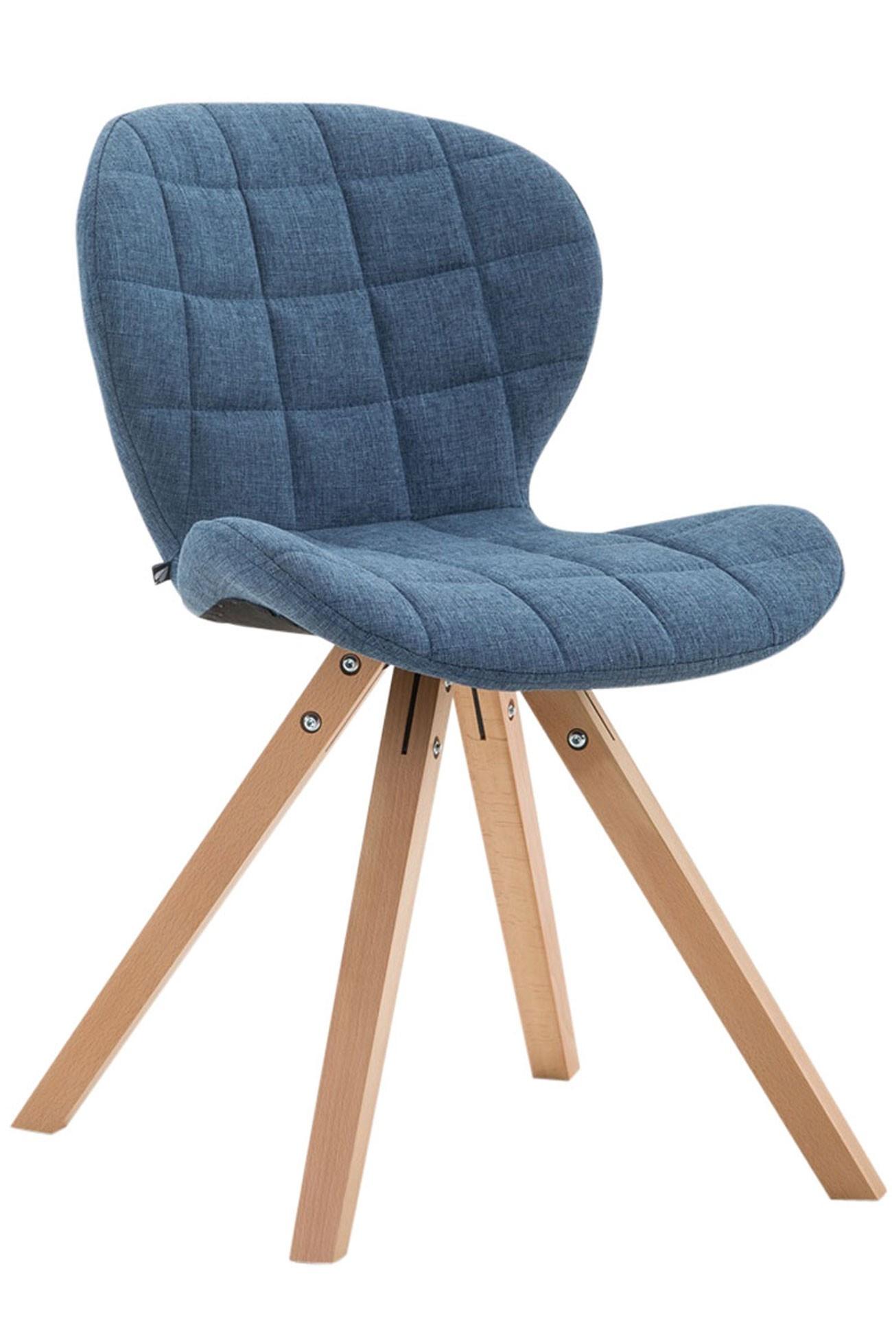 Chaise visiteur Alyssa tissu piètement carré