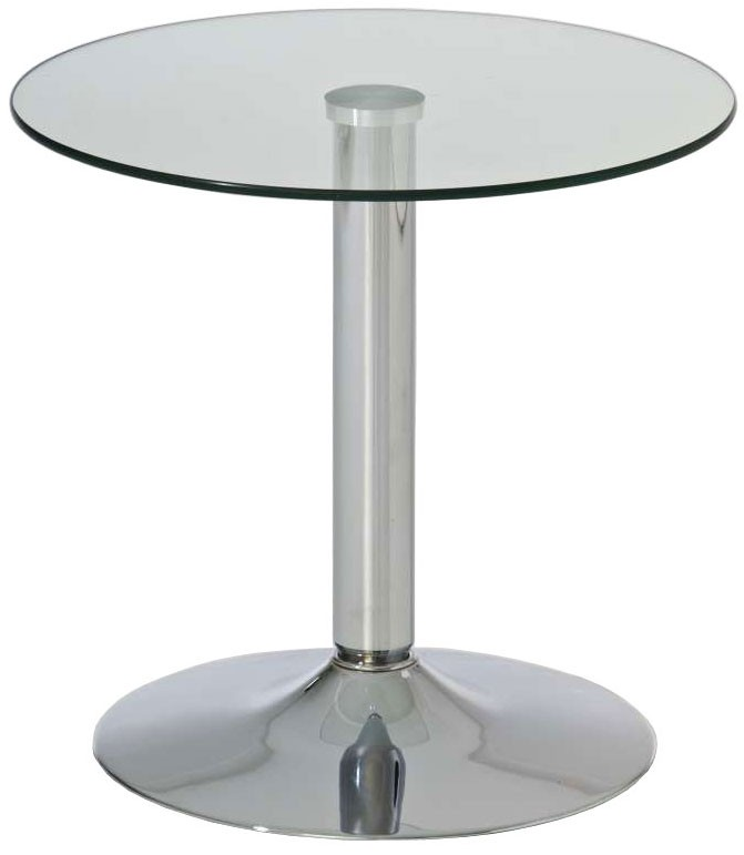 Table en verre ronde Ikarus
