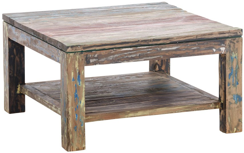 Table basse Anton en bois de teck  80x80cm