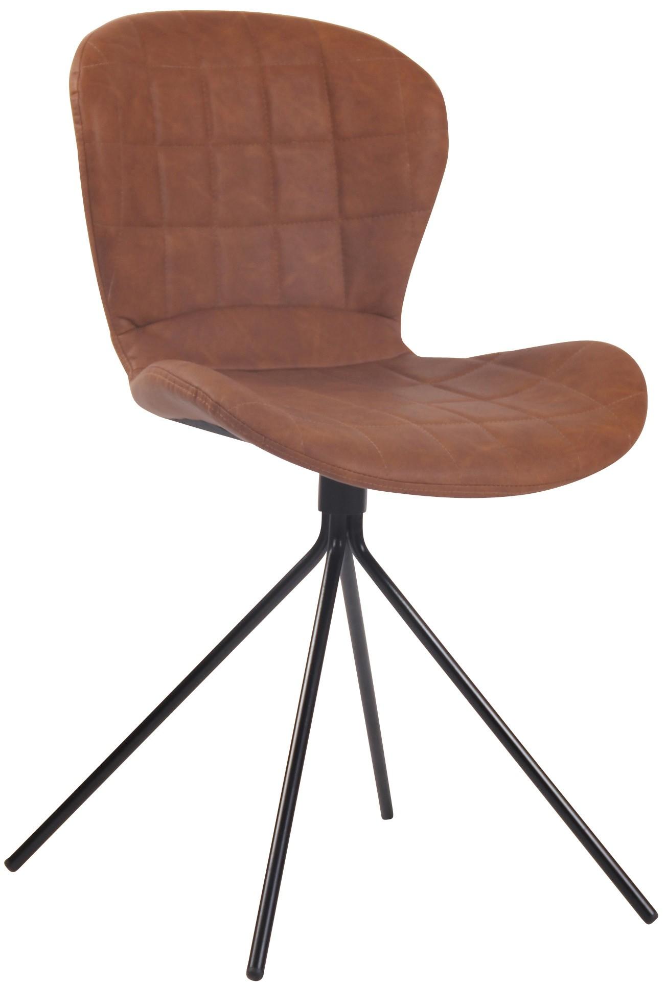 Chaise de salle à manger Cairns en tissu avec piètement métallique