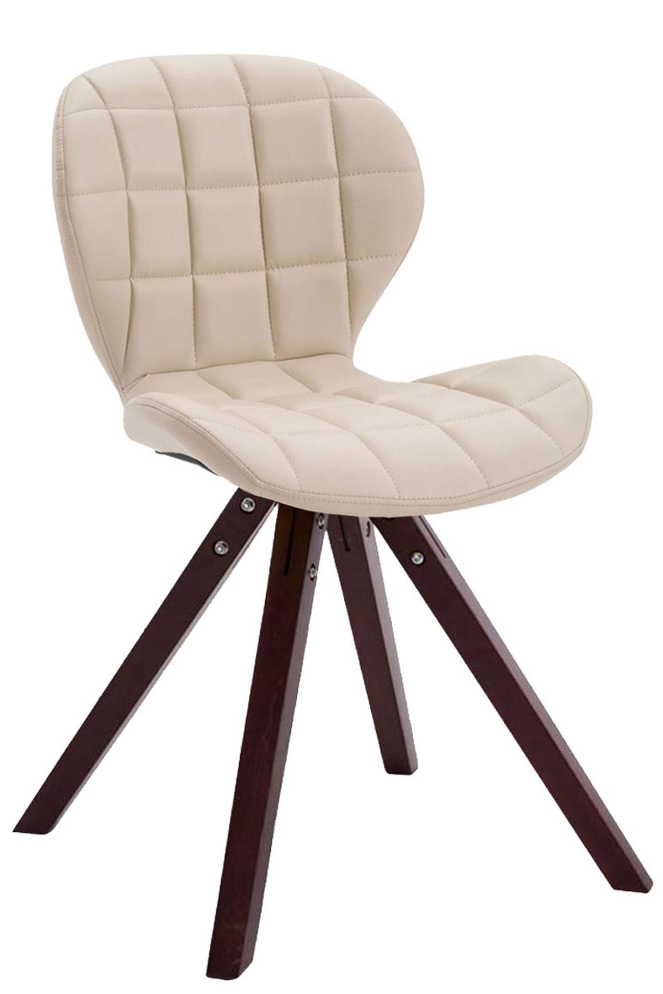 Chaise visiteur Alyssa similicuir piètement carré