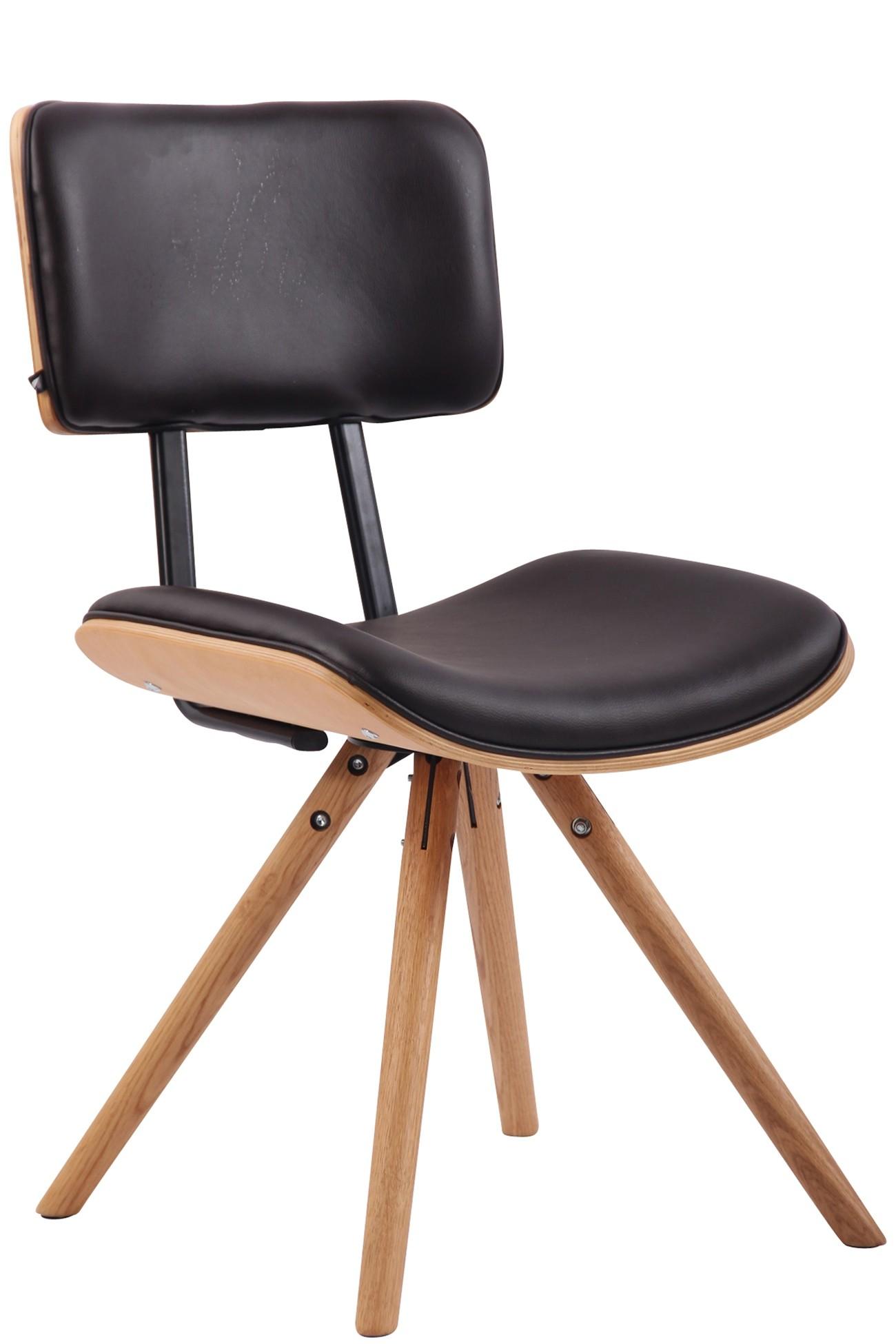 Chaise de salle à manger Delft en similicuir