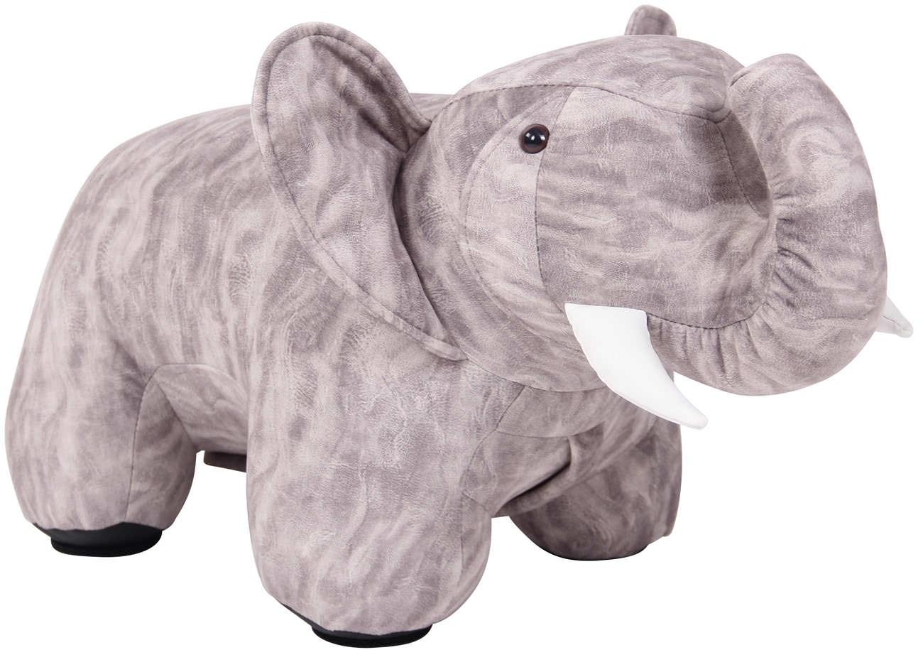 Pouf pour enfants Elmina en forme d'éléphant