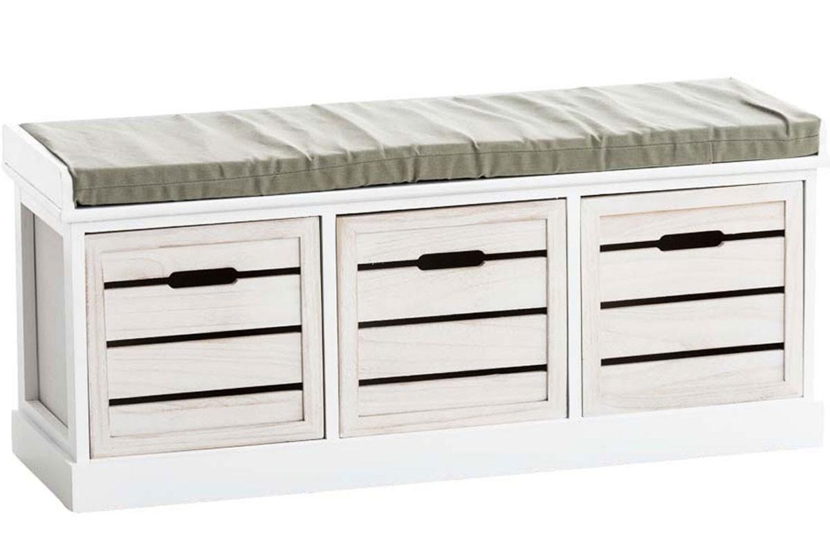 Banc en bois Felm avec coffre intégré