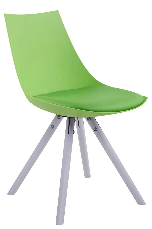 Esszimmerstuhl Albi Kunstleder Rund-grün-Weiß (Eiche)