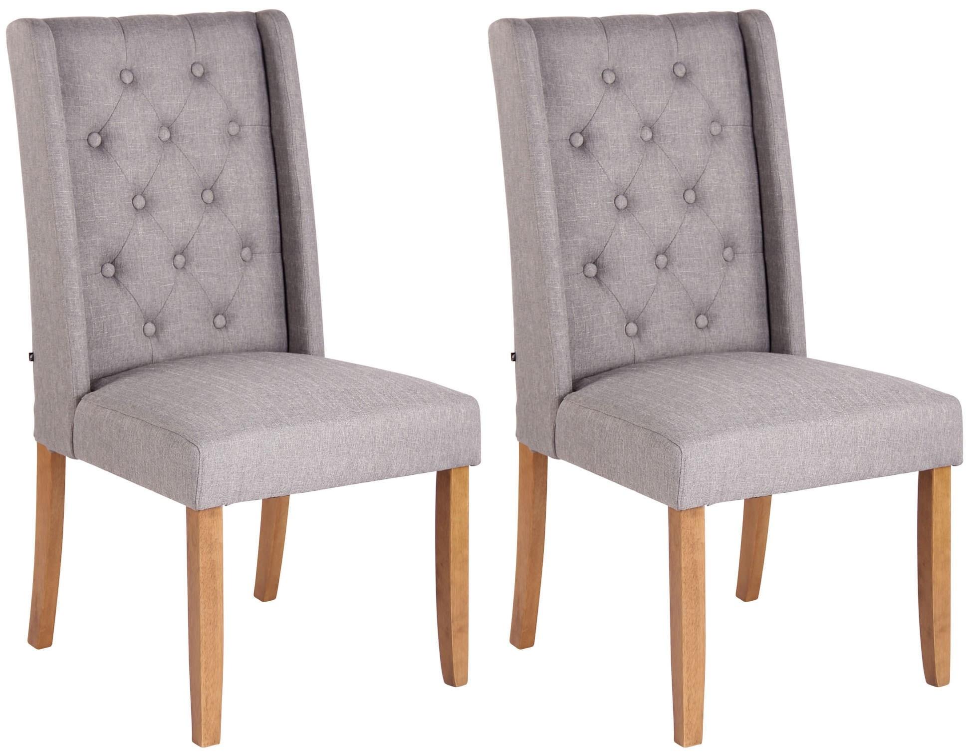 Lot de 2 chaises de salle à manger Malea en tissu