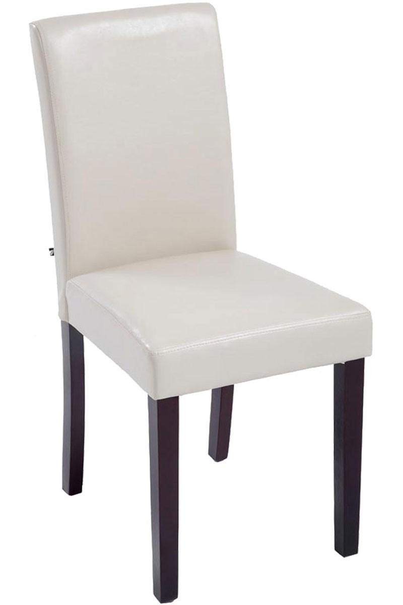 Chaise de salle à manger Ina similicuir marron clair
