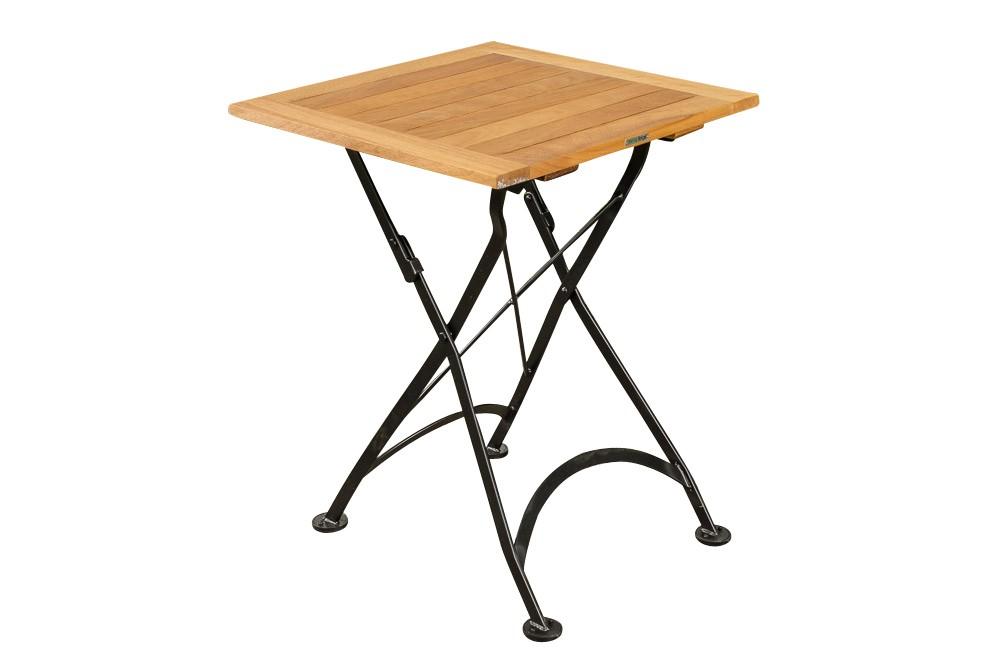 Table Pliable en Bois de Teck UTARA 60 x 60 cm