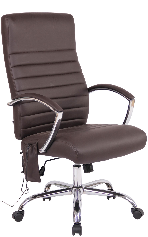 Fauteuil de bureau Valais avec fonction de massage en tissu ou en similicuir