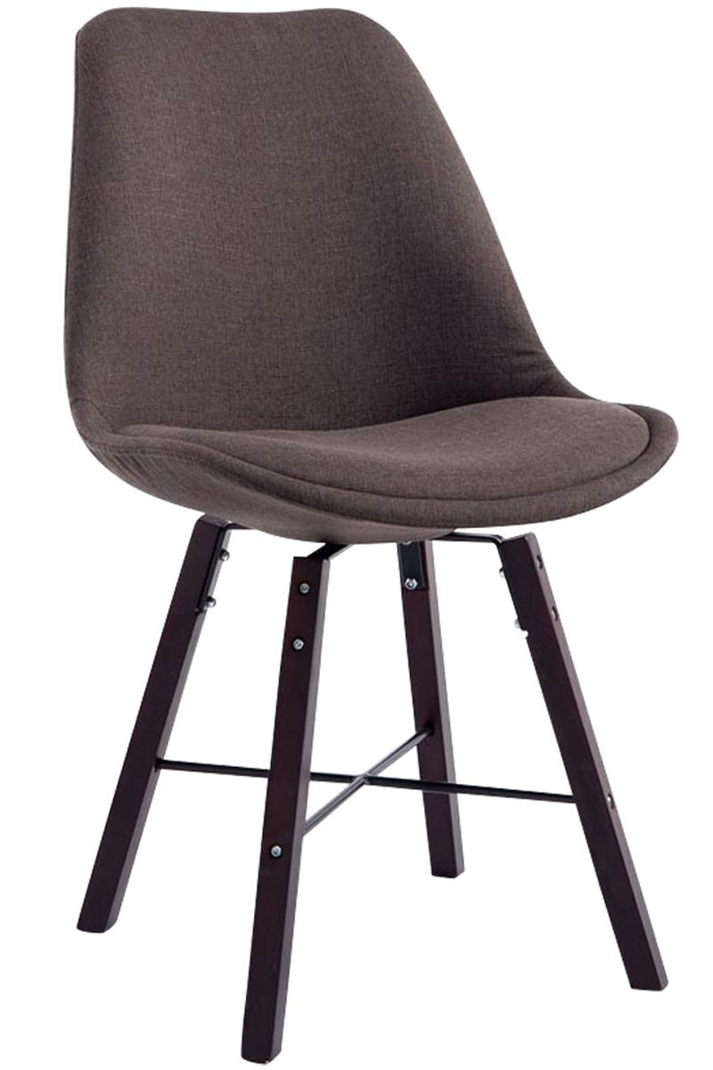 Chaise de visiteur Laffont tissu cappuccino