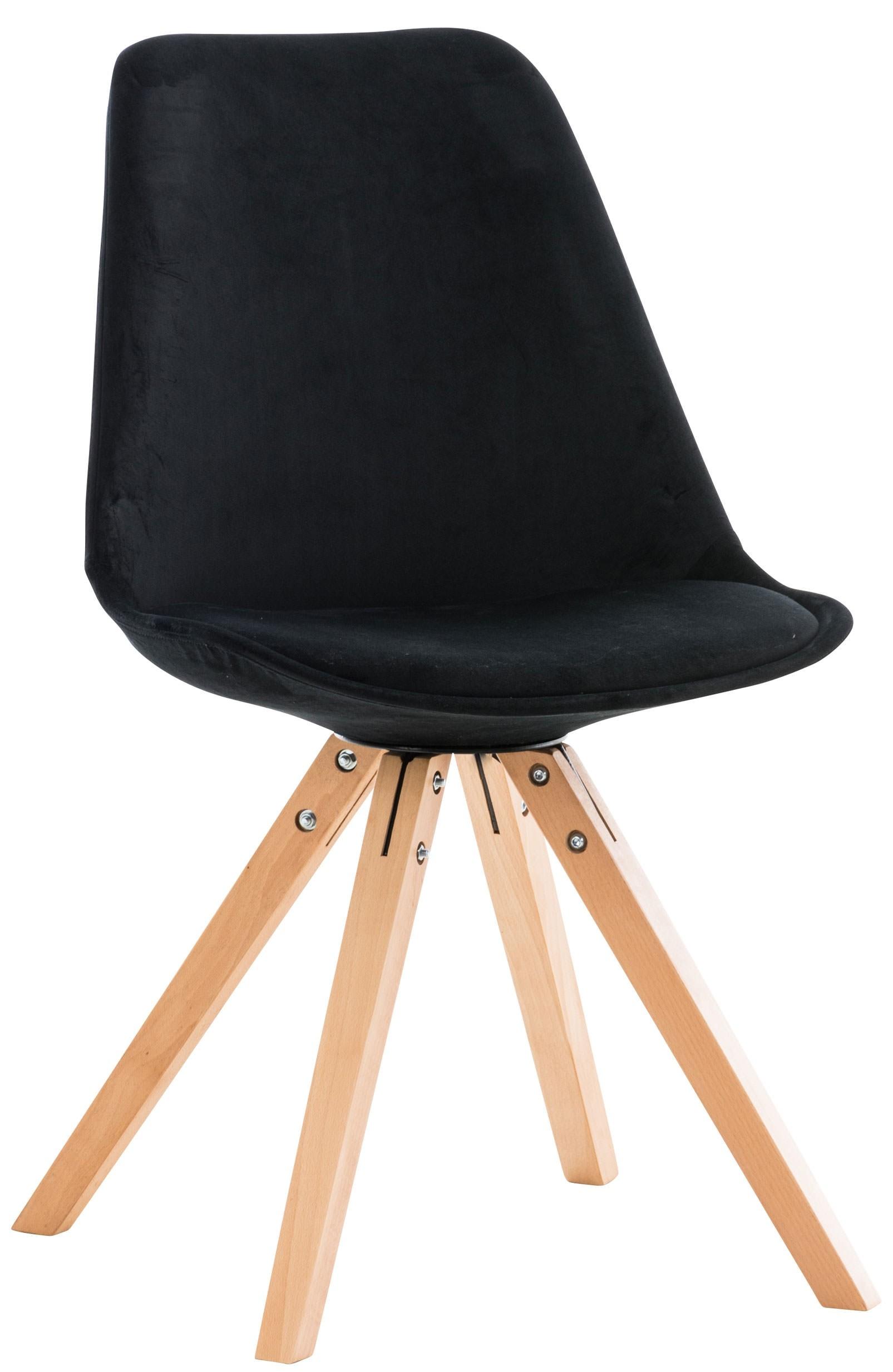 Chaise de salle à manger Pegleg Velours - carré