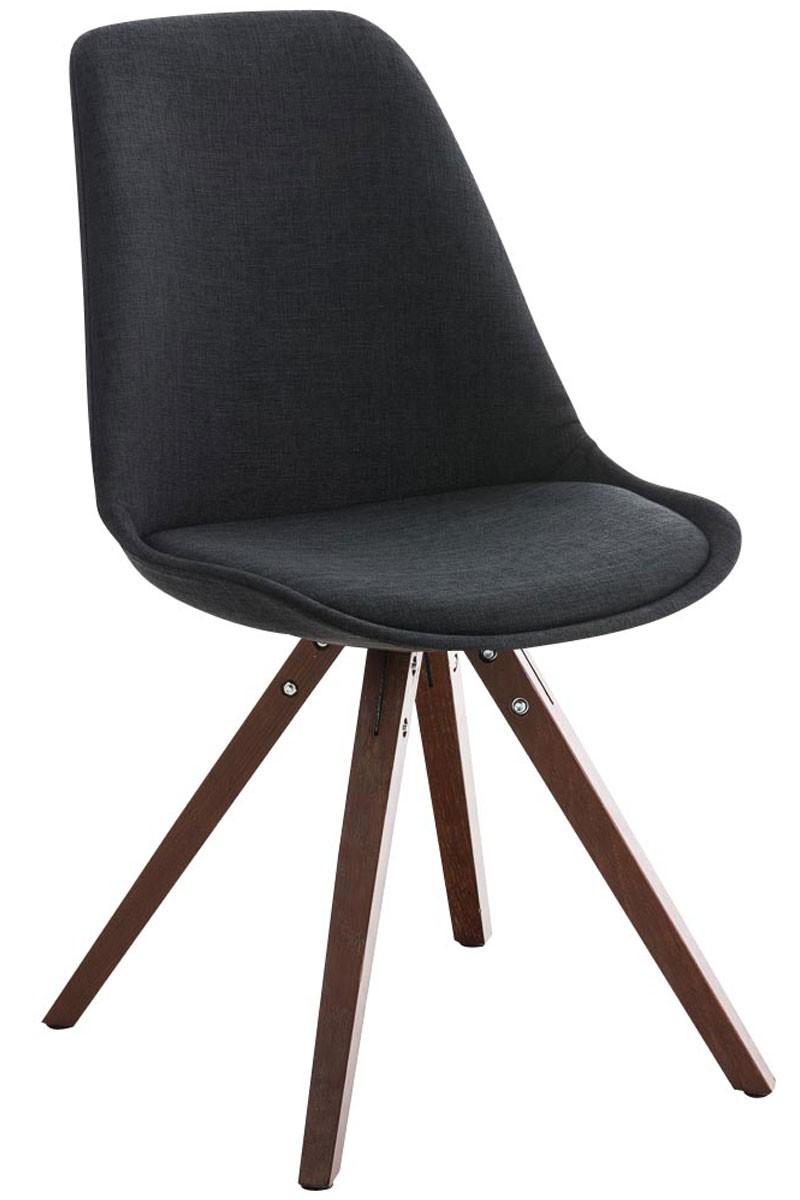 Chaise Pegleg tissu forme carrée noix
