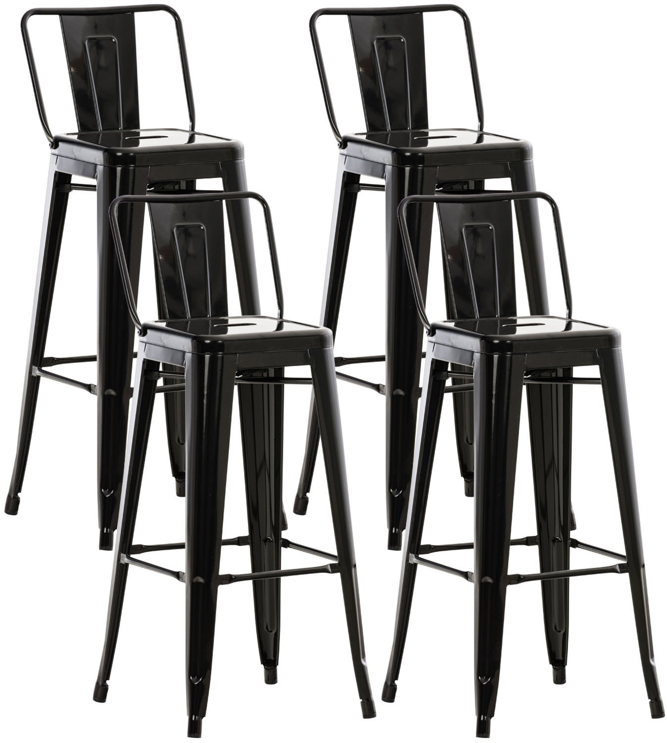 Lot de 4 tabourets de bar Mason
