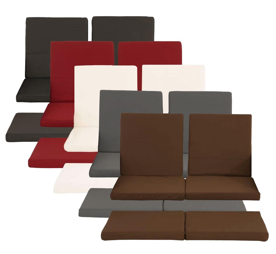 Set de 3 housses pour coussins du sofa Ancona polyrotin plat