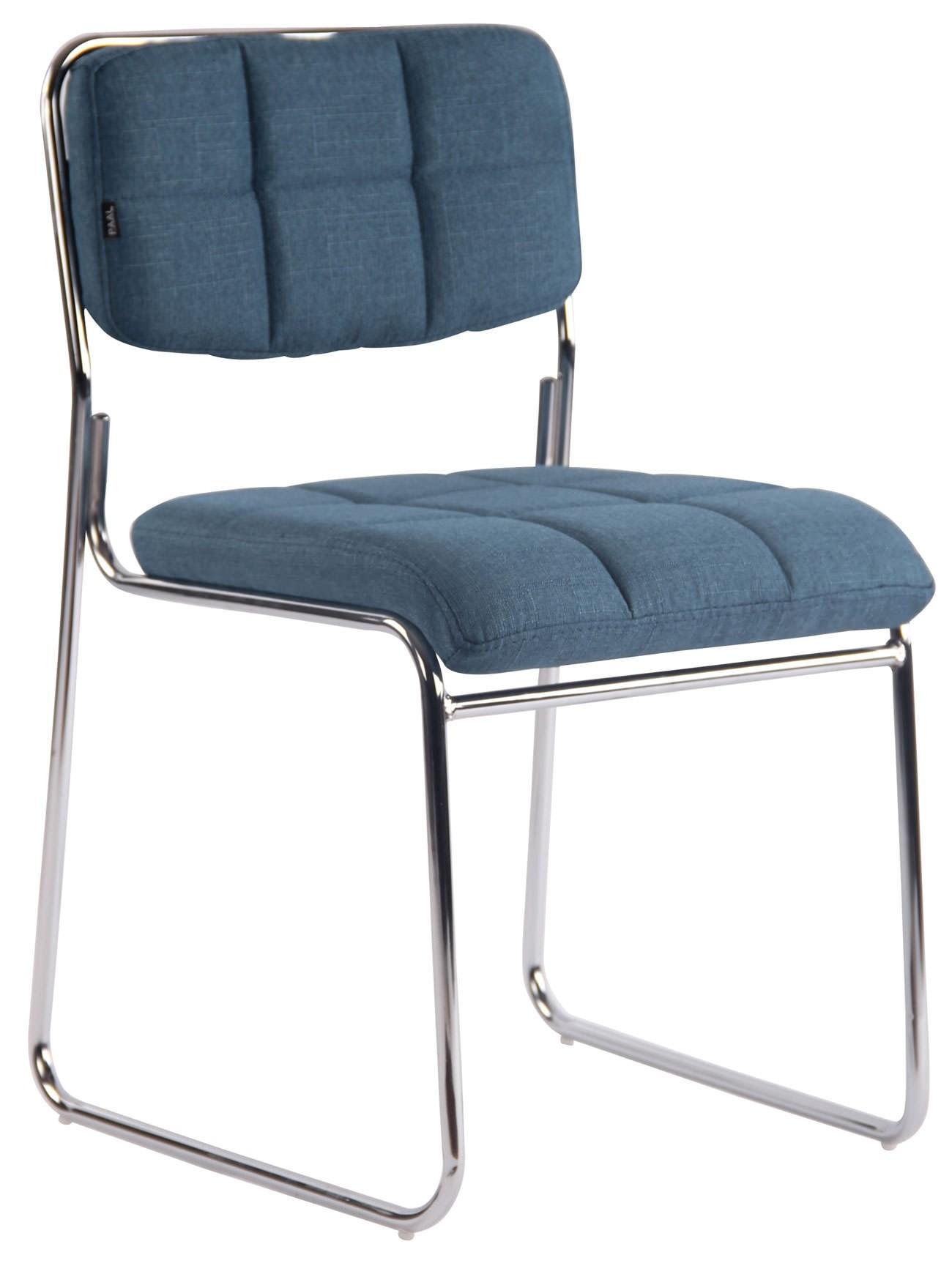Chaise de visiteur Gera tissu