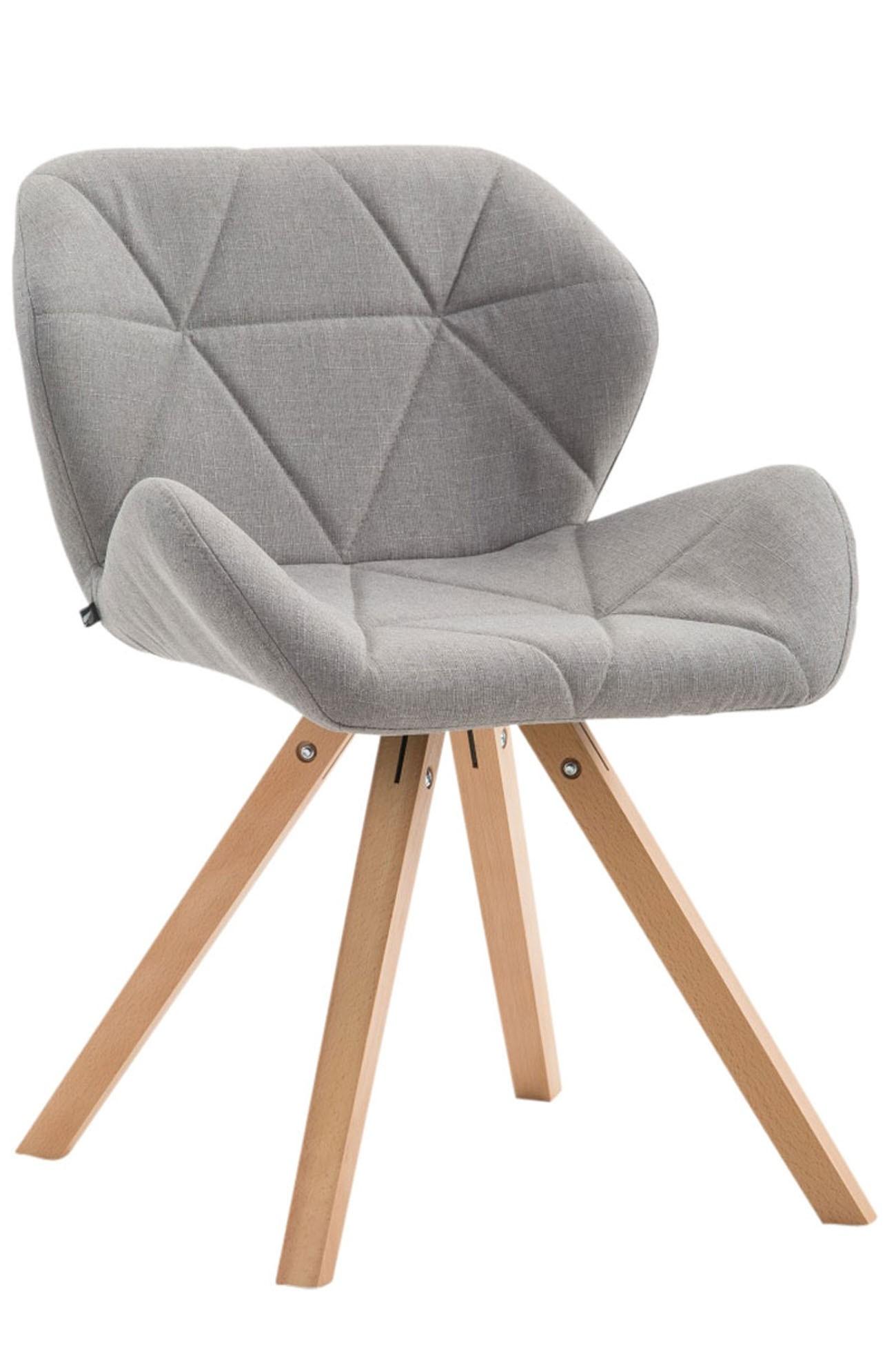 Chaise de visiteur Tyler tissu pieds carrés